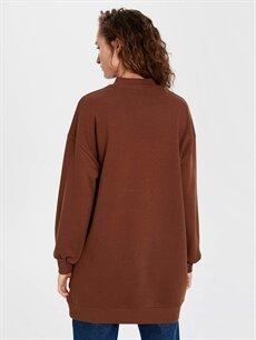 %67 Pamuk %33 Polyester Grafik Baskılı Oversize Sweatshirt