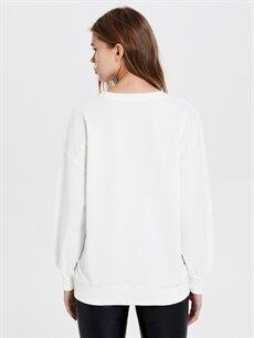 Kadın Aplike Baskılı Sweatshirt