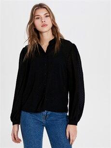 %100 Polyester  Desenli Şifon Bluz