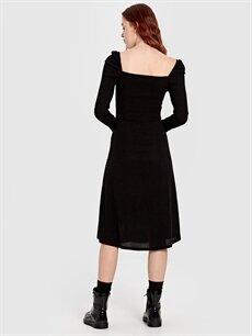 Kadın Quzu Düğme Detaylı Elbise