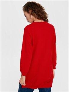 %67 Pamuk %33 Polyester Düz Basic Sweatshirt