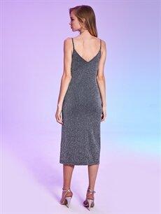 Rubyred Askılı Işıltılı Elbise