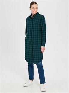 Kadın Allday Ekose Pamuklu Oduncu Gömlek