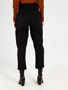 Kadın Nisan Triko Kuşaklı Yüksek Bel Havuç Pantolon
