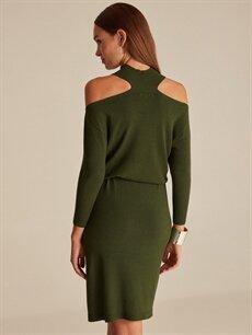 Join Us Omuzları Açık Triko Elbise