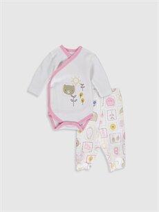 Beyaz Luggi Baby Yenidoğan Desenli Takım 2'li 9WB749Z1 LC Waikiki