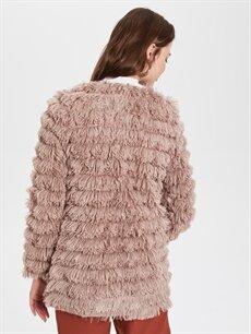 Sateen Saçaklı Yakasız Ceket