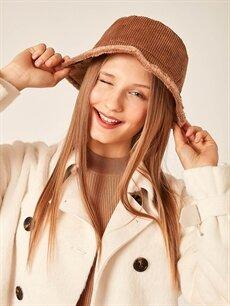 Axesoire Kadife Bucket Şapka