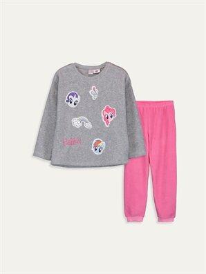 Kız Çocuk My Little Pony Polar Pijama Takımı - LC WAIKIKI