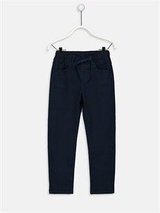 Lacivert Erkek Çocuk Slim Gabardin Pantolon 9W0687Z4 LC Waikiki