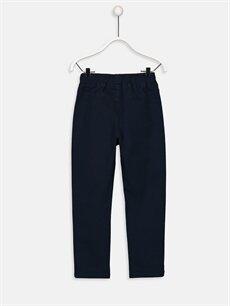 %97 Pamuk %3 Elastan Dar Normal Bel Erkek Çocuk Slim Gabardin Pantolon
