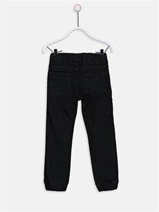 %80 Pamuk %17 Polyester %3 Elastan Normal Bel Erkek Çocuk Jean Jogger Pantolon