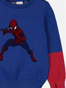 Erkek Çocuk Erkek Çocuk Spiderman İnce Triko Kazak