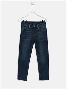 Lacivert Erkek Çocuk Slim Jean Pantolon 9W1175Z4 LC Waikiki