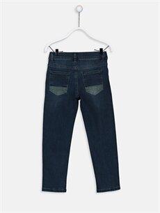 %98 Pamuk %2 Elastan Dar Normal Bel Erkek Çocuk Slim Jean Pantolon