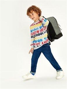 %98 Pamuk %2 Elastan Erkek Çocuk Slim Jean Pantolon