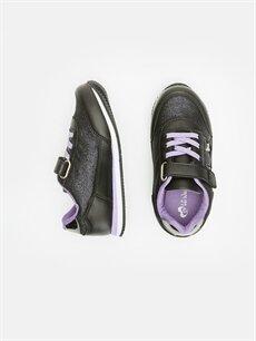 %0 Diğer malzeme (poliüretan) %0 Tekstil malzemeleri (%100 poliester)  Kız Çocuk Spor Ayakkabı