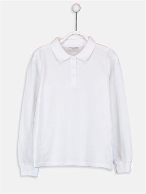 Kız Çocuk Pamuklu Basic Tişört - LC WAIKIKI