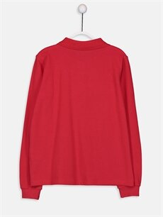%100 Pamuk Standart Tişört Düz Polo Uzun Kol Kız Çocuk Pamuklu Basic Tişört