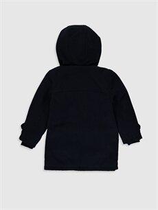%88 Polyester %2 Elastan %10 Viskon %100 Polyester Kalın Kaban Erkek Çocuk Kapüşonlu Kalın Kaban