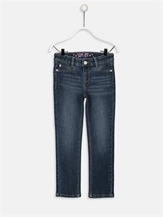 İndigo Kız Çocuk Slim Jean Pantolon 9W1600Z4 LC Waikiki