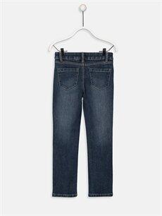 %78 Pamuk %21 Polyester %1 Elastan Dar Normal Bel Kız Çocuk Slim Jean Pantolon