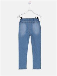 %79 Pamuk %19 Polyester %2 Elastan Normal Bel Dar Kız Çocuk Super Skinny Jean Pantolon