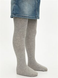 %54 Pamuk %24 Polyester %20 Poliamid %2 Elastan  Kız Çocuk Külotlu Çorap