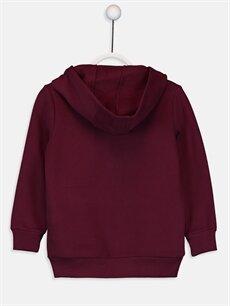 %70 Pamuk %30 Polyester  Kız Çocuk Fermuarlı Kapüşonlu Sweatshirt