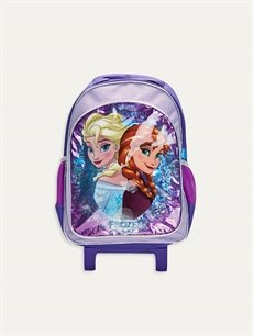 Mor Kız Çocuk Frozen Elsa Çekçekli Çanta 9W2456Z4 LC Waikiki