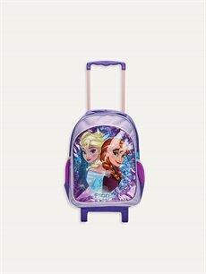 %100 Polyester %100 Polyester  Kız Çocuk Frozen Elsa Çekçekli Çanta