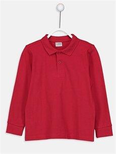 Kırmızı Erkek Çocuk Uzun Kollu Basic Tişört 9W2687Z4 LC Waikiki
