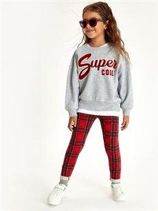 Kız Çocuk Kız Çocuk Yazı Baskılı Sweatshirt