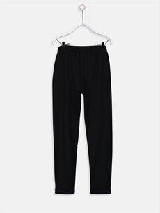 %65 Polyester %2 Elastan %33 Viskon Normal Bel Standart Kız Çocuk Beli Lastikli Pantolon