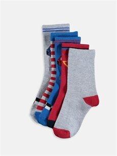 Çok Renkli Erkek Çocuk Soket Çorap 5'li 9W2961Z4 LC Waikiki