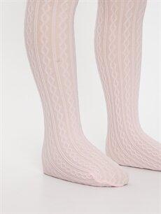 9W3242Z4 Kız Çocuk Külotlu Çorap 2'li