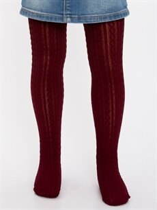 %95 Poliamid %5 Elastan  Kız Çocuk Külotlu Çorap 2'li