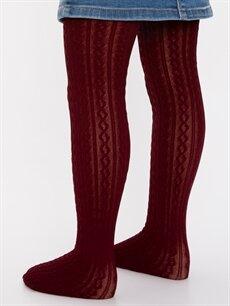 Pembe Kız Çocuk Külotlu Çorap 2'li