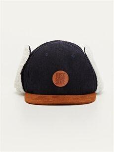 %91 Polyester %9 Elastan %100 Polyester  Erkek Çocuk Kulaklı Şapka
