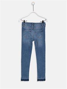 %99 Pamuk %1 Elastan Normal Bel Dar Kız Çocuk Skinny Fit Jean Pantolon