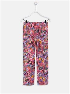 %100 Viskoz Normal Bel Standart Kız Çocuk Desenli Viskon Pantolon