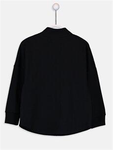 %100 Pamuk  Kız Çocuk Yazı Baskılı Sweatshirt
