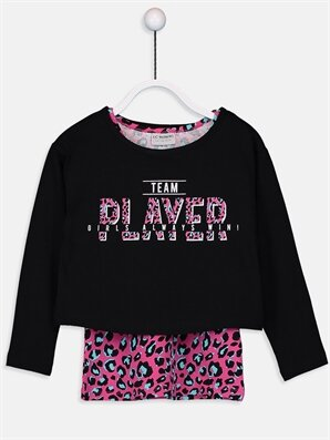 Kız Çocuk Pamuklu Tişört ve Atlet - LC WAIKIKI