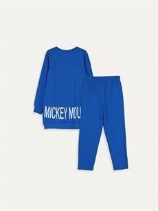 %100 Pamuk Standart Pijamalar Kız Çocuk Mickey Mouse Pamuklu Pijama Takımı