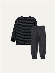 %95 Pamuk %5 Polyester Standart Pijamalar Erkek Çocuk Pamuklu Pijama Takımı
