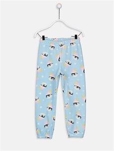 %100 Polyester Kız Çocuk Polar Pijama Takımı