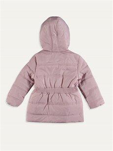 %100 Polyester %100 Polyester Kalın Kaban Kız Çocuk Kapüşonlu Kalın Kaban