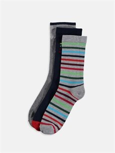 Çok Renkli Erkek Çocuk Soket Çorap 3'lü 9W6948Z4 LC Waikiki