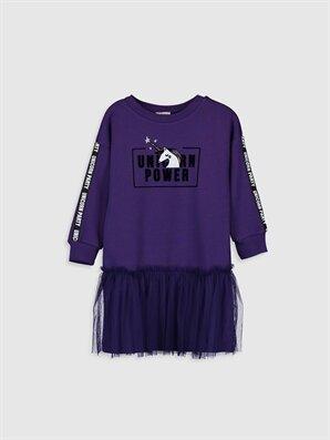 Kız Çocuk Tüllü Sweatshirt Elbise - LC WAIKIKI
