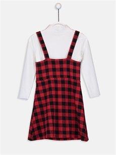 %89 Pamuk %9 Polyester %2 Elastan %60 Polyester %34 Viskoz %6 Elastan Diz Üstü Ekoseli Kız Çocuk Elbise ve Tişört
